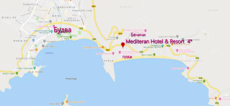 Карта расположения отеля Медитеран