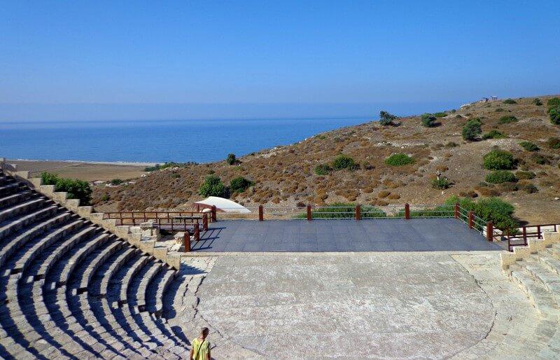 Театр Курион вид на берег моря