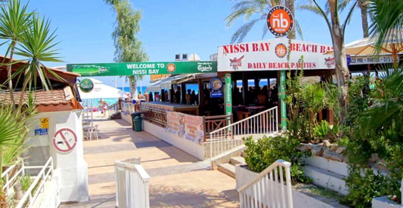 Вход на пляж Нисси Айя-Напа Кипр
