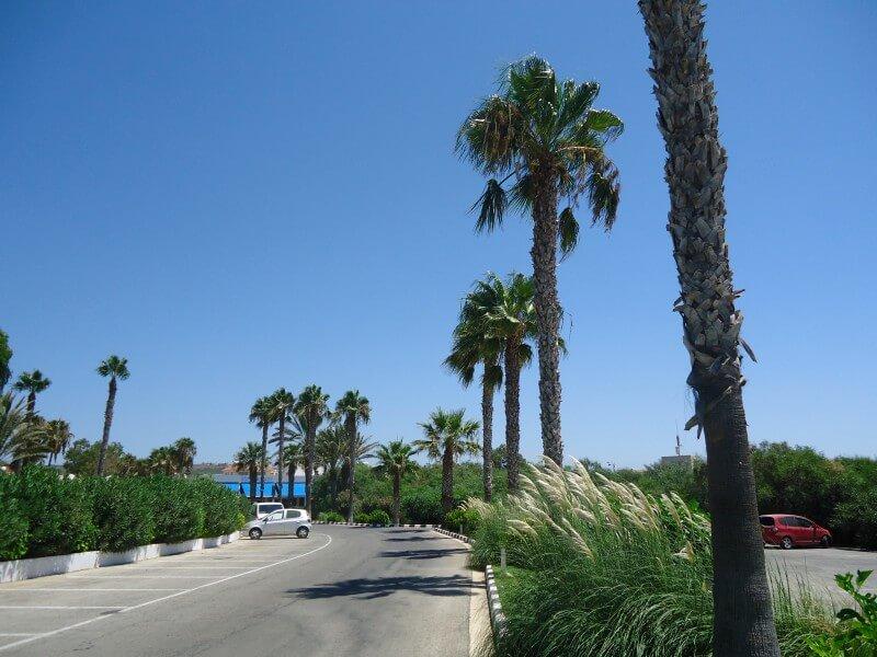 Дорога к побережью бухты Нисси Айя-Напа Кипр