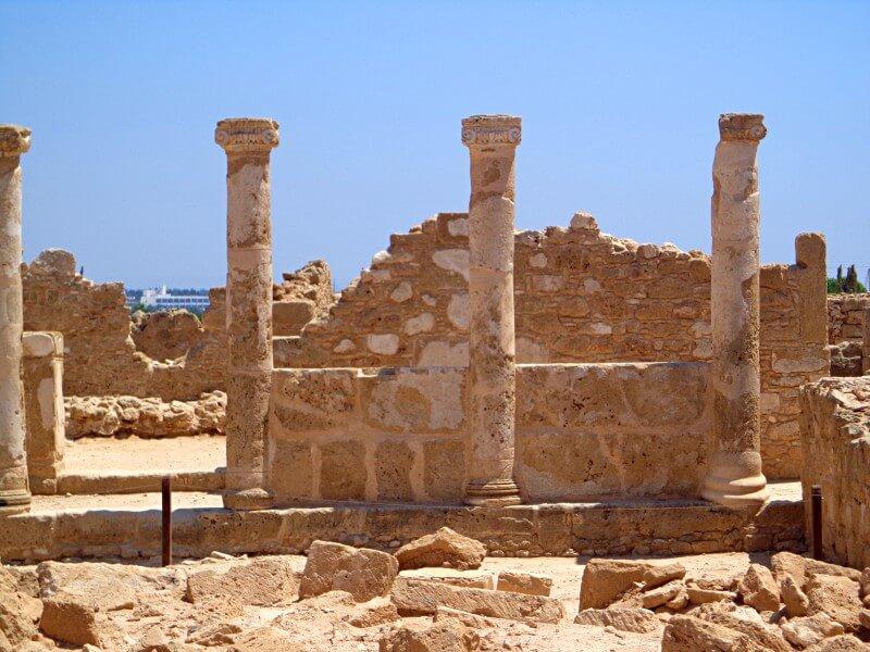 Руины древнего города Пафос Кипр