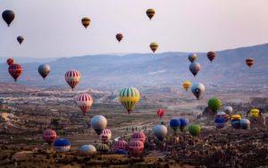воздушные шары в Каппадокии Турция