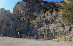 ликийские гробницы город Мира Турция