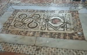мозаичный пол в церкви Николая Чудотворца