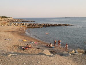 песчаный пляж в Туапсе