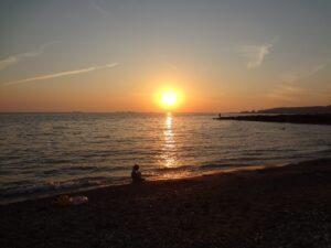 закат Черное море