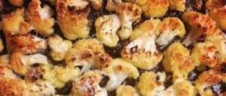 цветная капуста с сыром и чесноком в духовке